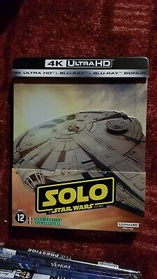 Steelbook SOLO a Star Wars Story 4K Ultra HD+Blu-Ray+Digital FRANCAIS