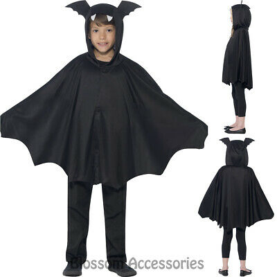 CK796 Kids Unisex Boys Girls Bat Hooded Cape Vampire Halloween Costume Outfit