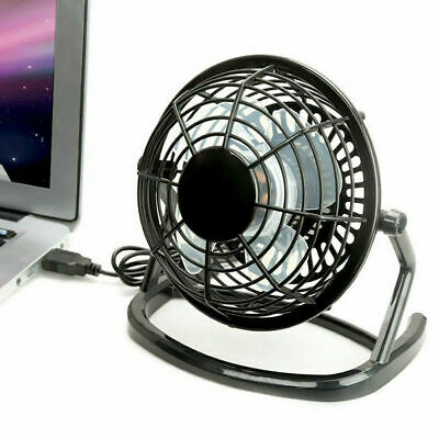 USB Ventilateur Mini Bureau Table Portable Silencieux Ordinateur PC Inclinable F
