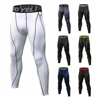 Men Sport Compression Pants Running Skin Tights Trousers Workout Sweatpants AU