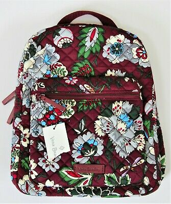 a5b9bcb25 Vera Bradley Iconic Leighton Small Backpack Bordeaux Blooms Brand New w Tag