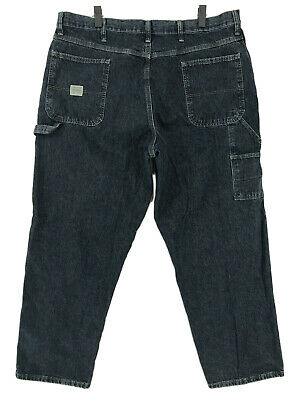 95cff1fa94d Wrangler Carpenter Jeans Mens Sz 40 x 30 Dark Blue Denim Wash 94OR0QW