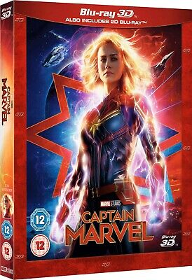 Captain Marvel 3D (Blu-ray 2D/3D) BRAND NEW!! MARVEL