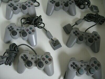 PS1 Official Sony Playstation Dual Shock Controller x1 tested+working (graded)