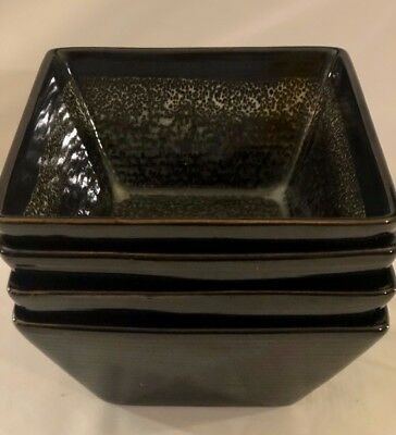 """SET OF 4 New Tannex  """"INCA"""" Square Soup/Pasta/Cereal Bowls  BRAND NEW"""