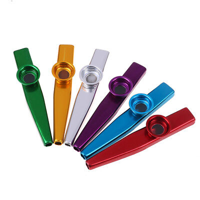 Kazoo aluminum alloy metal with 5x flute diaphragm for children music-loverP bh