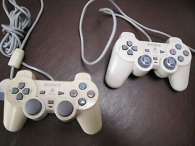 PS1 PSOne Official Sony Playstation Dual Shock Controller x1 TESTED (graded)