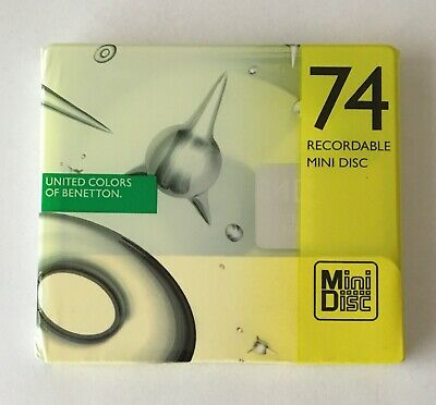 United Colors of Benetton MD 74 Yellow Minidisc - Sealed