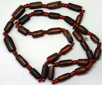 Ancient 4000 Years Old (1900 B.C.) Afghanistan Carnelian Necklace