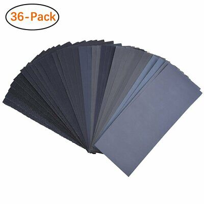 400 to 3000 Assorted Grit Sandpaper , Dry or Wet Sanding, 9 x 3.6 Inch, 36-Sheet