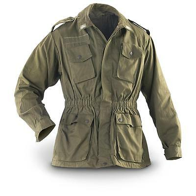 NEW Italian Genuine Vintage Army Shirt Field Jacket green olive
