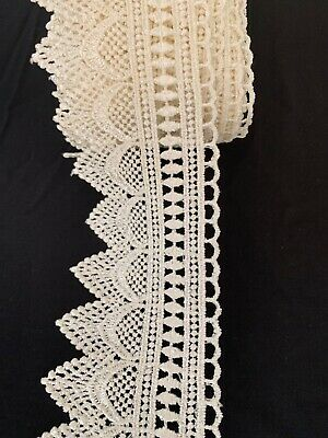 New off white colour fine thread Shuttle edge Lace/trimmings3-4inch Wider