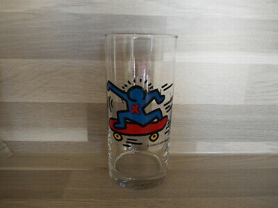 1 Vintage highball glass Keith Haring by LU Belgium