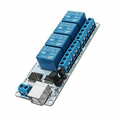 DC 5V 200mA 4 Channel USB Relay Module With Doubled High Current Tracks