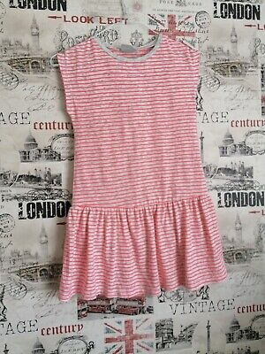 NEXT Girls Outfit Set Tunic & Leggings Striped Neon Grey size 9 years