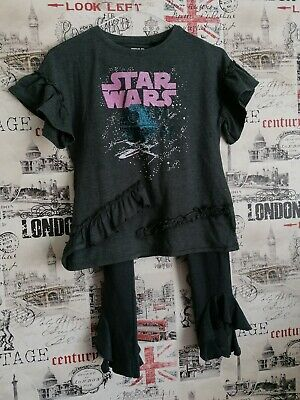 Next Girls Grey Ruffle Star Wars Outfit 2 pieces set Age 10 Years