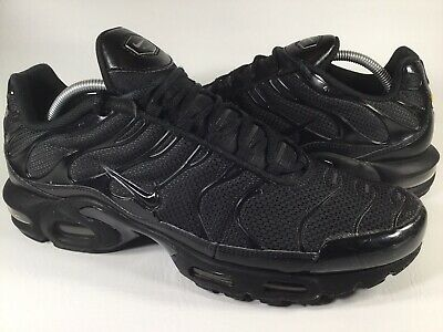 03680ea292 Nike Air Max Plus Tn Triple Black White Mens Size 11.5 Rare 604133-050  Running