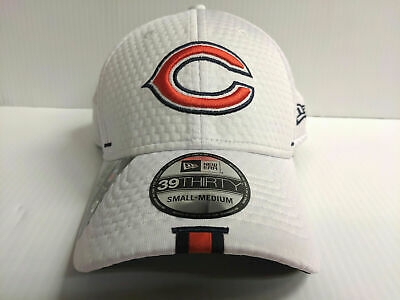 141f857e0 Chicago Bears New Era 39Thirty Stretch Fit Hat White 2019 Training Camp