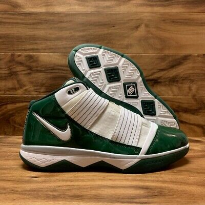 half off 9dfeb bd328 NIKE LEBRON SOLDIER XII 12 SVSM Home White Green Gold AO2609 ...