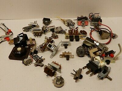 Huge Lot of New and Used Toggles Slide Switches and Others
