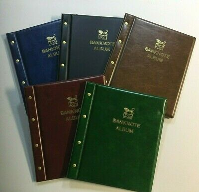 VST Banknote Collection Album - Red, Brown, Green, Blue, Black