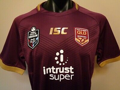 c0500723d Official Licensed Isc State Of Origin Qld Maroons 2018 Jersey Mens Xl New