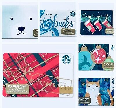 2016 STARBUCKS US PICK YOUR Holiday Edition Christmas Cards Die Cut City New