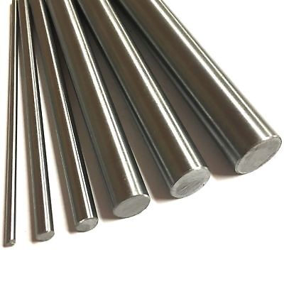304 Stainless Steel Rod Round Bar Ground  Stock Shaft Linear 400mm length 2-20