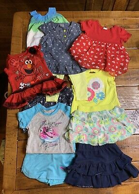 e9d8dd00f9b6 LOT OF 12-MONTH CARTERS BABY GIRL CLOTHES spring summer 6 bodysuits ...