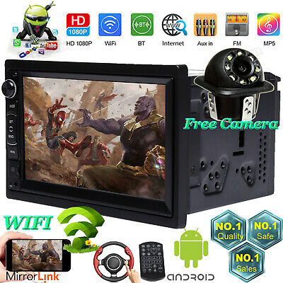 7INCH HD 2DIN Touch Screen Android IOS Car Stereo MP5 Player