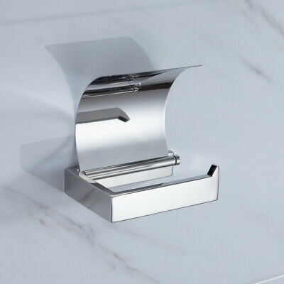 Toilet Paper Holder with Lid Cover Stainless Steel Wall Mounted Washing Room DIY