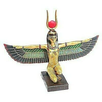 Kneeling Isis Figure with Wings Outstretched - Ancient Egypt Egyptian Gift
