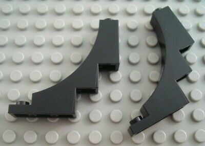 LEGO New Lot of 4 Black 1x3x2 Inverted Brick Arch Pieces