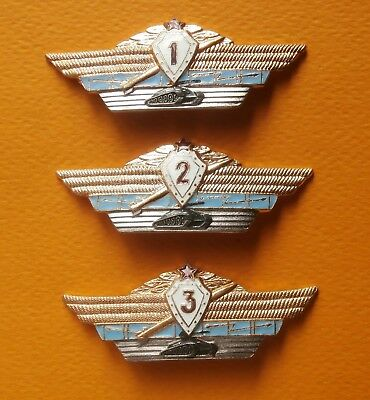 Soviet russian 3 breastplates of classiness of officers of the Soviet army