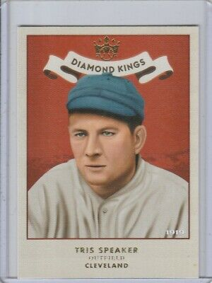 2019 Diamond Kings 1919 Tris Speaker #8 Cleveland Indians Hall Of Fame