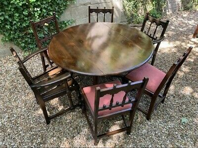 Vintage Ercol Solid Elm Dining Table And Six Chairs . Delivery Available