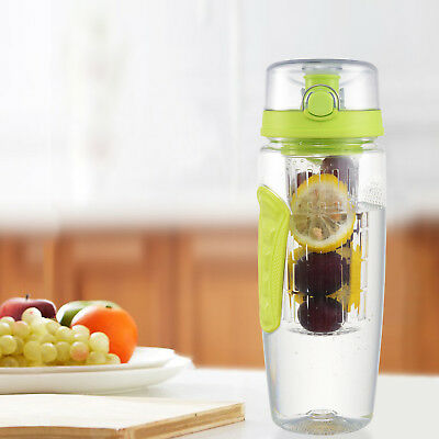 Outdoor Clear Water Bottle Cup 32 OZ Leakproof Portable Travel Sport