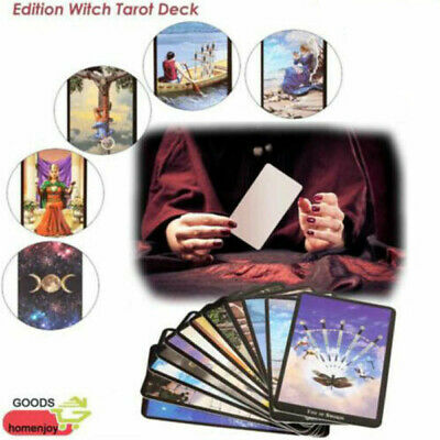 78pcs Cards Witch Tarot Deck Future Fate Indicator Forecasting Set Collection