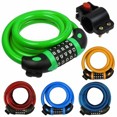 1.2m Bike Bicycle Heavy Duty Steel Security Cable 5 Digit Combination Lock AU
