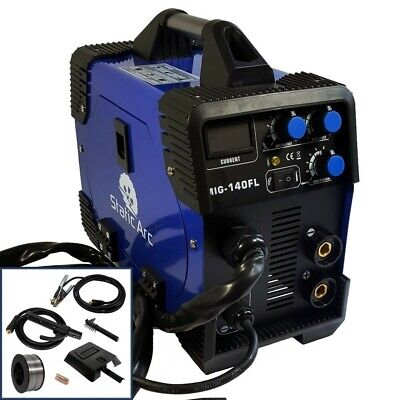 Mig 140A Igbt Inverter Dc Welder 2-In-1 Mma Mag Gas Gasless Wire Welding Machine