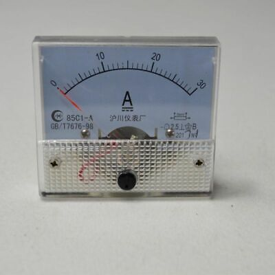 Top DC 0-30A 85C1 UPDATED New Ammeter Gauge Hot Analog Panel AMP Current Meter