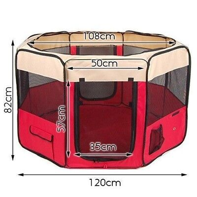 Pet Playpen Soft Dog Cat Puppy Play Pen Round Crate Cage Tent Portable Winter XL