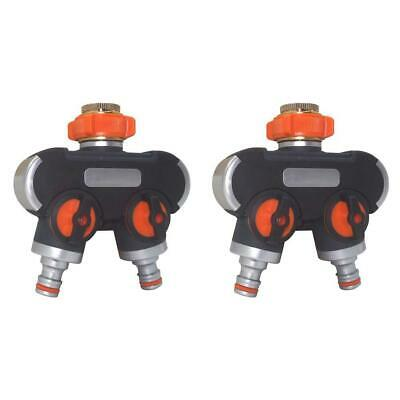 2 Way Y Shape Water Pipe Adapter Hose Water Tap Valve Splitter Quick Connector