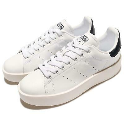 60ae74ca95 adidas Originals Stan Smith Bold W White Navy Women Platform Shoe Sneaker  BA7770