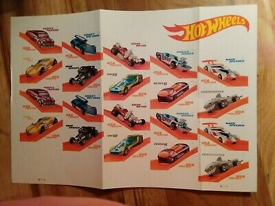 """NEW! USPS FOREVER Stamps  """"Hot Wheels"""" SHEET - 20ct.-FREE SHIP!"""