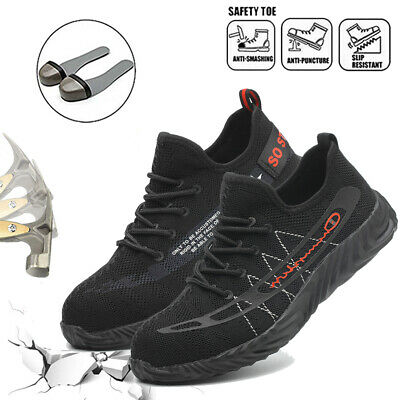 Mens Work Safety Steel Toe Cap Boots Industrial Construction Anti-static Shoes