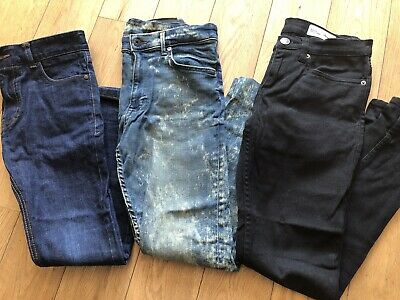 3x Boys Skinny Denim Trousers Age 11+ Next H&M Denim Co