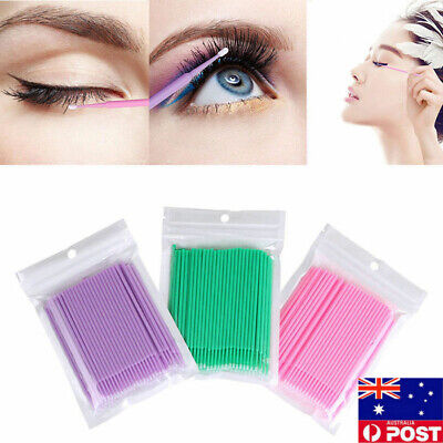 500 Microbrush Disposable Micro Brush Applicators Eyelash Extensions Makeup Tool