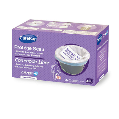 Cleanis CareBag Commode Liner, 20-Count
