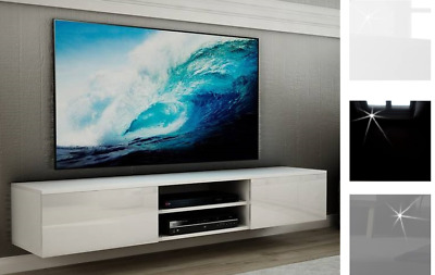 Floating Wall Mounted Tv Cabinet Tv Unit Tv Cupboard High Gloss White Black Grey